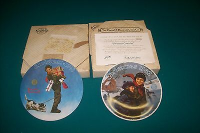 $ CDN29.99 • Buy Lot Of 2 NORMAN ROCKWELL Christmas Plates Limited Edition 1981, 1982