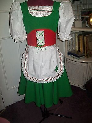 Girls /Ladies Green & Red  Premier  Highland Dancing Irish  Jig  Dress/Outfit • 125£