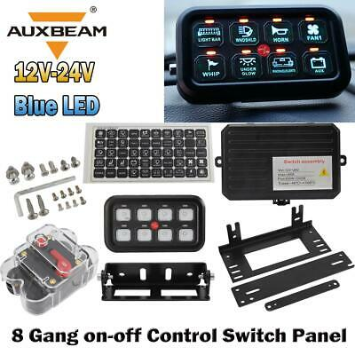 $139.99 • Buy AUXBEAM 8 Gang On-Off Control Switch Panel Electronic Relay System For Jeep JK