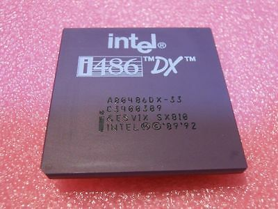 AU26.73 • Buy INTEL A80486DX-33 Gold CPU Processor I486 80486 DX 33MHz PGA168 PIN SX810