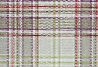 Voyage Maison  Lythmore Plum  Country Check Fabric | REDUCED CLEARANCE PRICE • 13.95£