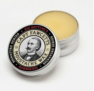 Captain Fawcett Barberism Moustache Wax Hair Styling Sid Sottung Barber 15ml Tin • 10£