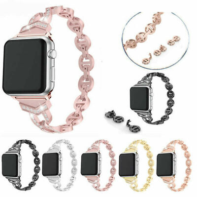 AU17.99 • Buy For Apple Watch Series 5 4 3 2 38/42MM Lady Bling Bracelet IWatch Band Strap