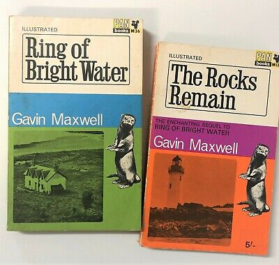 Gavin Maxwell's Famous Otter Stories Ring Of Bright Water/The Rocks Remain 1960s • 10£