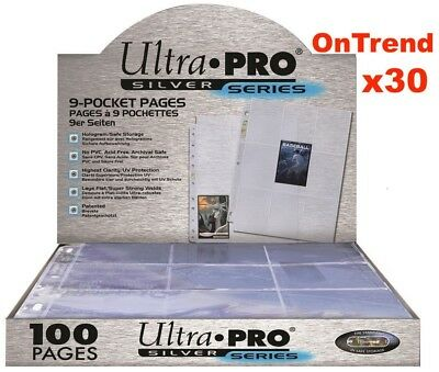 AU18.90 • Buy ULTRA PRO SILVER 9 POCKET AFL POKEMON MTG TRADING CARD SLEEVES X 30 PAGES