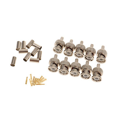 $ CDN8.70 • Buy 10-Pack Professional RG58 BNC Male Crimp-On Connector For Coaxial Cable