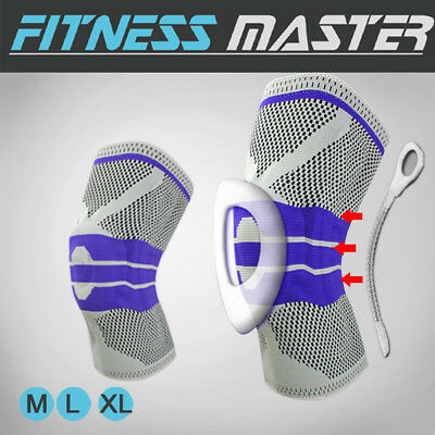 AU13.99 • Buy Full Knee Support Brace Protector Medial Patella Strap Compression Sleeve Pad
