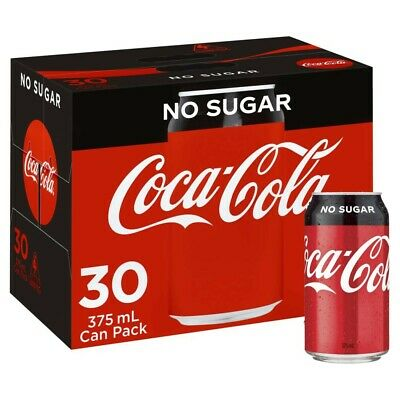 View Details Coca-Cola No Sugar Coke Multipack Cans 375mL 30 Pack • 22.50AU