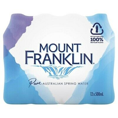 View Details Mount Franklin Pure Spring Water 500mL 12 Pack • 7.75AU