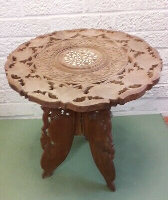 Vintage Inlaid  Occasional Table African Origin • 23£