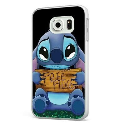 £6.95 • Buy Lilo And Stitch Free Hugs Disney WHITE PHONE CASE COVER For SAMSUNG GALAXY