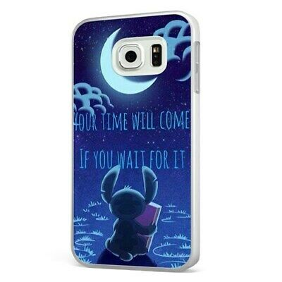Lilo And Stitch Disney Night Quote WHITE PHONE CASE COVER For SAMSUNG GALAXY • 6.95£