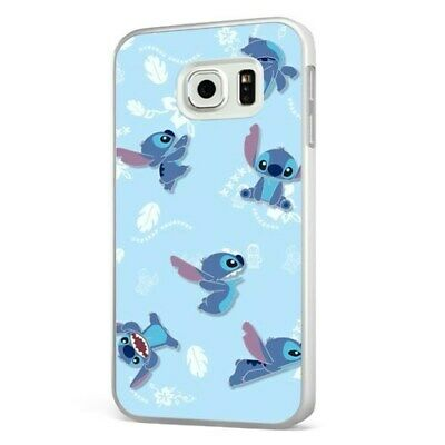 Lilo Stitch Disney Aloha Pattern WHITE PHONE CASE COVER For SAMSUNG GALAXY • 6.95£