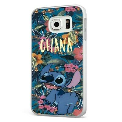 £6.95 • Buy Ohana Lilo Stitch Disney Family Floral WHITE PHONE CASE COVER For SAMSUNG GALAXY