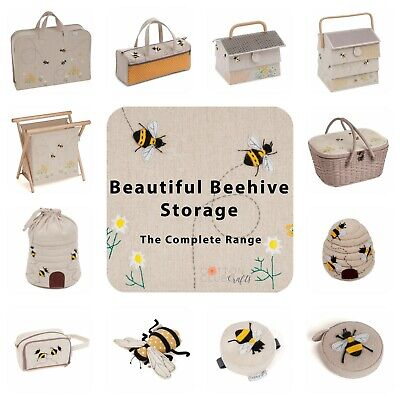 Sewing / Knitting Storage ~ Bee / Bee Hive / Beehive ~ Matching Sets • 12.50£