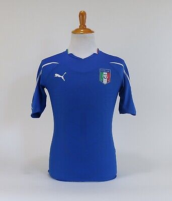 $30.52 • Buy Puma Italy National Team Soccer Football Jersey Mens Fit Size Small Blue