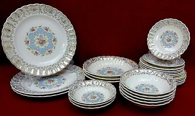 $93.71 • Buy SEBRING China American Limoges LYRIC Pattern 26-piece LOT - Place Pieces