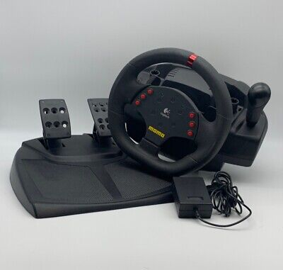 c066be59f9f Logitech® Momo® Racing Force Feedback Wheel W/ Pedals & Power Adapter Works  •