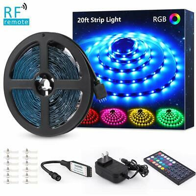 Rgb Wall Light Room Led Strip 5050 Color Changing Dimmable Home Kitchen Bar • 31.18$