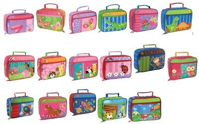 14x DESIGNS Kids Insulated Lunch Bags Stephen Joseph Girls Boys Lunch Boxes Bag  • 11.50£