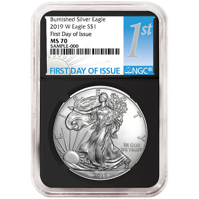 $95 • Buy 2019-W Burnished $1 American Silver Eagle NGC MS70 FDI First Label Retro Core