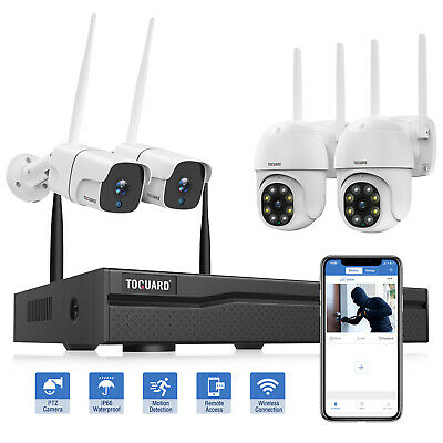 £119.99 • Buy Wireless CCTV Kit Security System FullHD 1080P 4CH NVR Home Outdoor Audio Camera