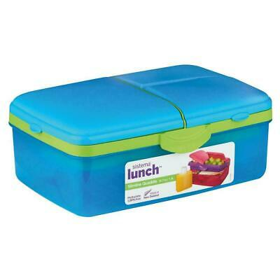 Sistema Lunch Box Slimline Quaddie 4 Compartments Food Container 1.5L And Bottle • 9.59£