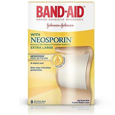 £3.84 • Buy Band-Aid Brand Bandages With Neosporin Antibiotic Ointment Extra Large 8 Ct.