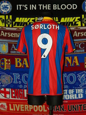 BNWT Crystal Palace Adults M 2017 #9 Sørloth Signed Football Shirt Jersey • 59.99£