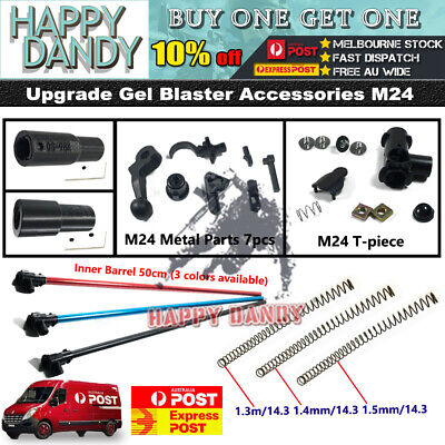 AU9.48 • Buy Upgrade COMP Metal Alloy Inner Barrel TPC Spring Hopup GJ M24 Gel Blaster Parts