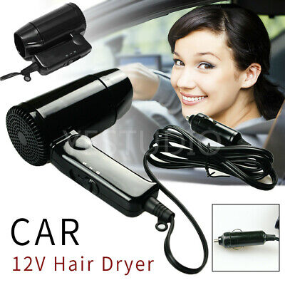 AU25.50 • Buy 12V Hairdryer Portable Hair Dryer Dry Glass Defroster Car Caravan Camping Travel