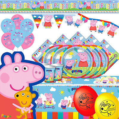 £3.49 • Buy Peppa Party Tableware And Decorations - Throw A Birthday Party With Peppa Pig