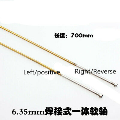 £19.99 • Buy 6.35mm 1/4 X 700mm Flex Shaft Cable Shaft Left / Right Threaded For RC Boat