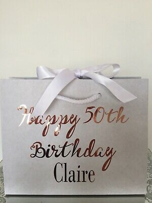 Personalised Aged Birthday Gift Bag Box 18th 21st 30th 40th 50th 60th Any Name • 3.25£
