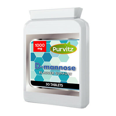AU31.67 • Buy D-mannose 1000mg Tablets Supports Healthy Urinary Tract Cystitis UK Purvitz