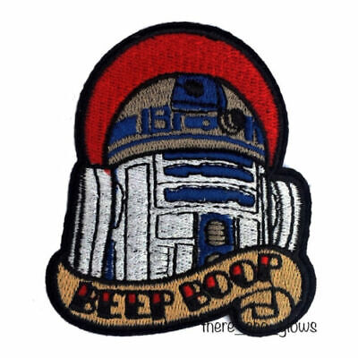 *Beep Boop* Star Wars R2D2 Tattoo Style Iron On Embroidered Patch (Artoo, Badge) • 3.99£