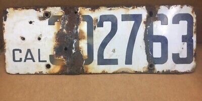 $ CDN86.51 • Buy Rare  1919 Porcelain ( California ) • 302763 • License Plate - Vintage