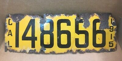 $ CDN118.51 • Buy Rare 1915 Porcelain ( California ) • 148656 • License Plate - Vintage