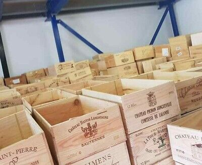 12 Bottle Size - Wooden Wine Box Crate For Vintage Shabby Chic Home Storage • 17.95£
