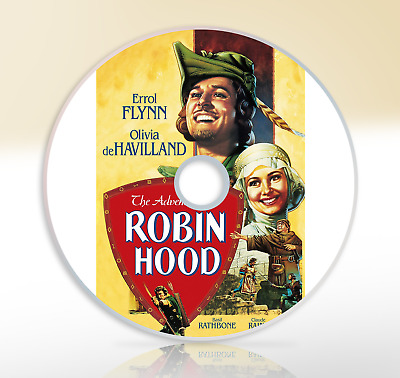 The Adventures Of Robin Hood (1938) DVD Classic Movie / Film Errol Flynn • 2.65£