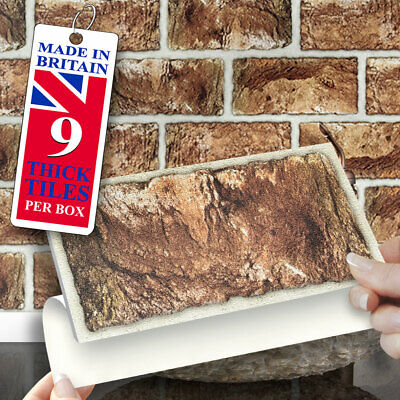 £12.99 • Buy Stick On Wall Tiles | Pack Of 9 Urban Brick Self Adhesive Wall Tiles 8  X 4