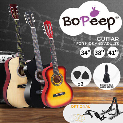 AU94.99 • Buy BoPeep Acoustic Classical Guitar 34''/38''/41''Wooden Guitar Stand String Tuner