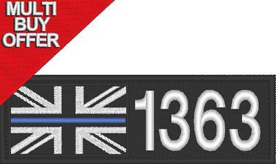 Police, Thin Blue Line, Badge Number And Jack, Hook And Loop • 8.99£