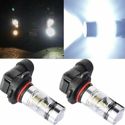 $17.79 • Buy Pair 9140 9145 H10 HB3 9005 LED 100W CREE 6000K White Fog Light Driving DRL Bulb