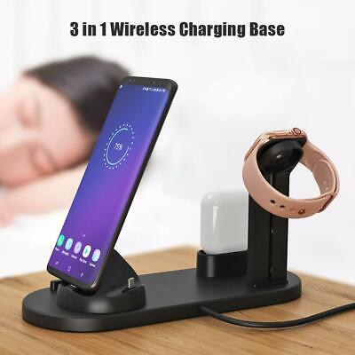 $ CDN22.93 • Buy 3in1 Wireless Charging Dock Station Charger Holder Fr IPhone Airpods Apple Watch