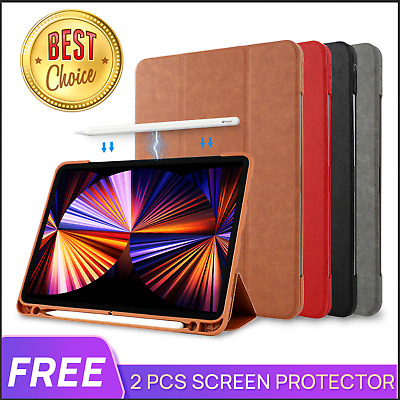 AU25.99 • Buy For IPad Pro 2021 M1 11 12.9 10.5  Air 4 10.2 Leather Case Cover Pencil Charging