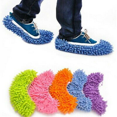 Dust Mop Slippers Lazy Floor Polishing Cleaning Socks Shoes Student Secret Santa • 3.19£