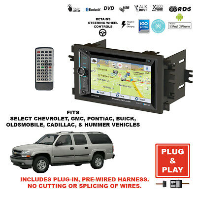 $549.99 • Buy Plug-In GPS Navigation Bluetooth Double DIN CD Car Stereo Radio For Select GM