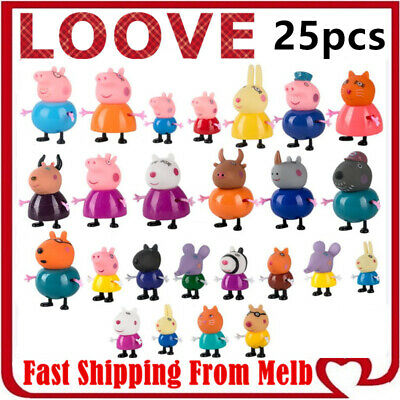AU14.95 • Buy Peppa Pig Playset Family Gift Kid Toy Character Doll Figure Plastic PVC Cake Top