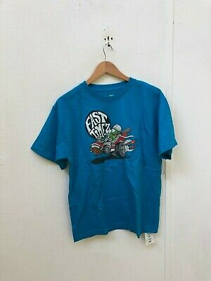 VANS Off The Wall Kid's Uncle Faster Logo T-Shirt - XL - Blue - New • 8.99£